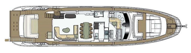 Azimut Grande 25 metri layout