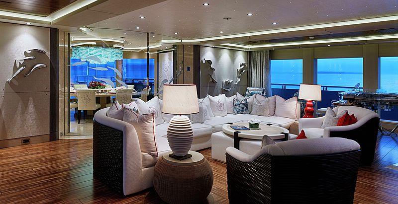 Equanimity yacht saloon