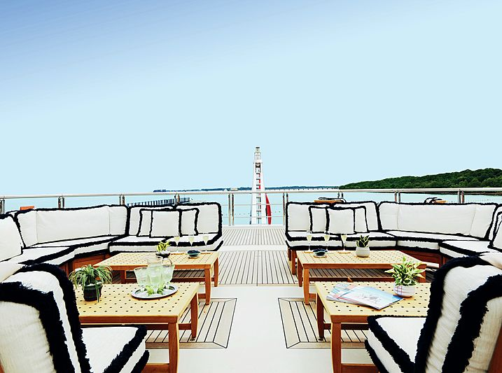 Equanimity yacht aft deck