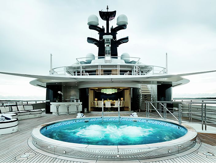 Equanimity yacht pool