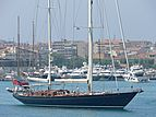 Victoria of Strathearn yacht leaving Antibes