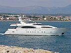 Free Spirit yacht leaving Antibes