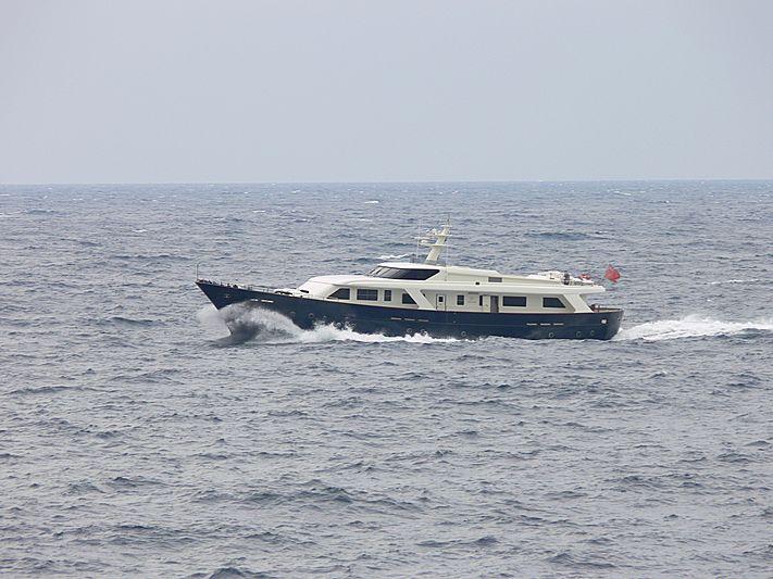 Fair Play II yacht arriving in Monaco