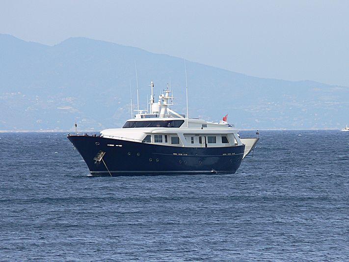 Fair Play II yacht anchored in Saint-Jean-Cap-Ferrat