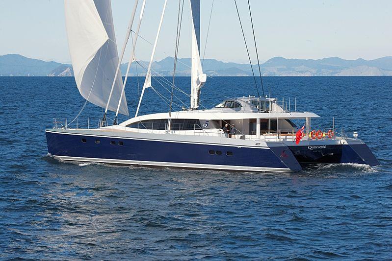 Quintessential yacht under sail