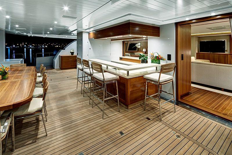 Quintessential yacht aft deck