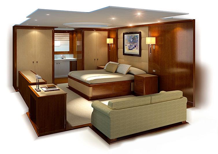 Q5 yacht interior rendering