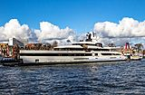 Lady S yacht passing by Rotterdam