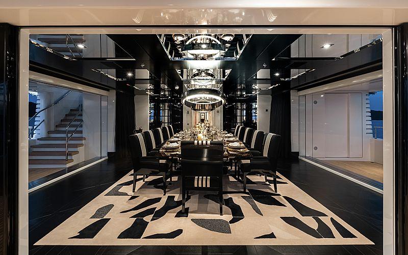Secret yacht ding room