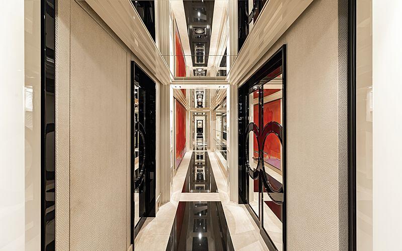 Secret yacht hallway