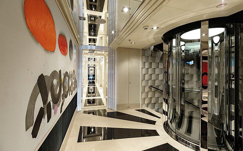 Secret yacht staircase