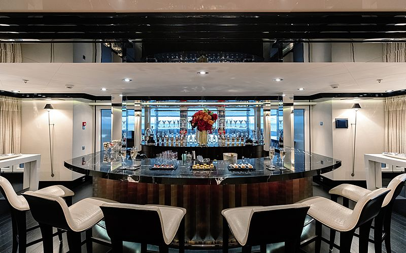 Secret yacht bar