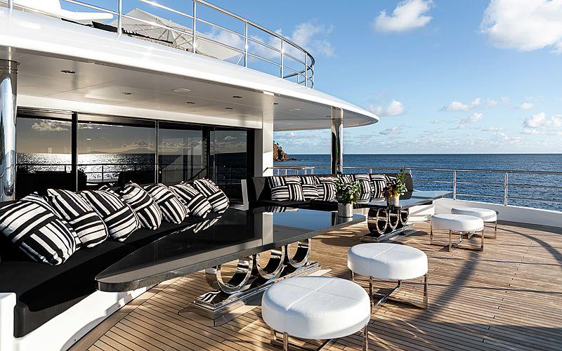 Secret yacht upper aft deck