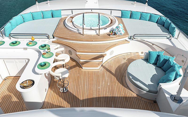 Secret yacht sundeck