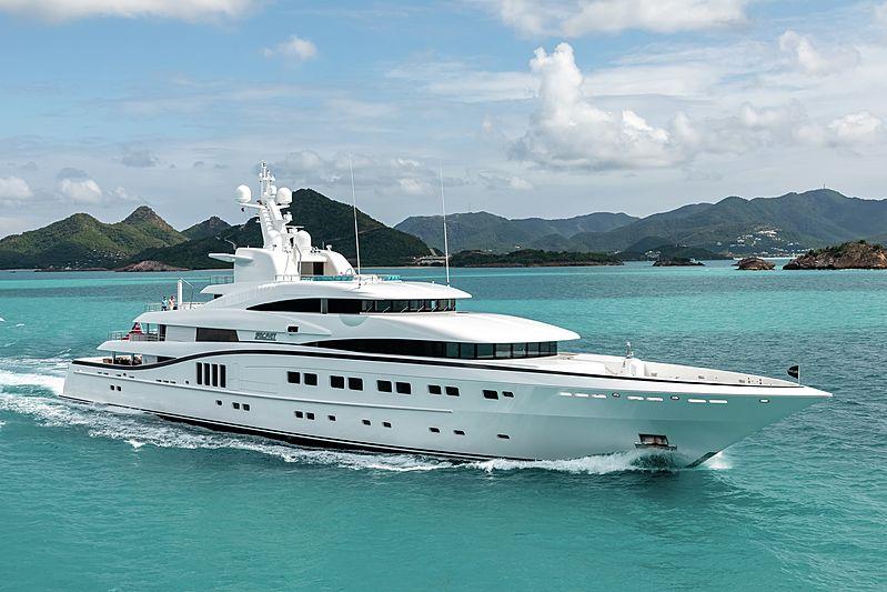 Secret yacht cruising