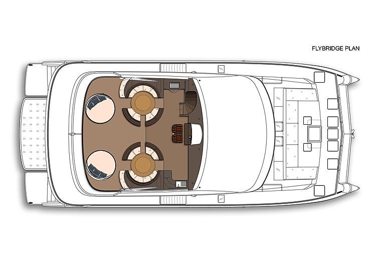 Amasea 84'/25m catamaran concept GA by Amasea Yachts