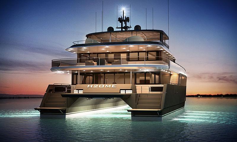 Amasea 84'/25m catamaran concept renderings by Amasea Yachts