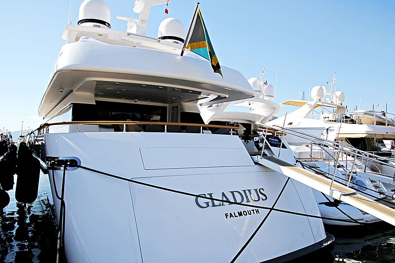 Gladius yacht in Port Canto
