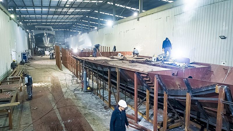 AvA Kando 110/02 yacht in build in Antalya