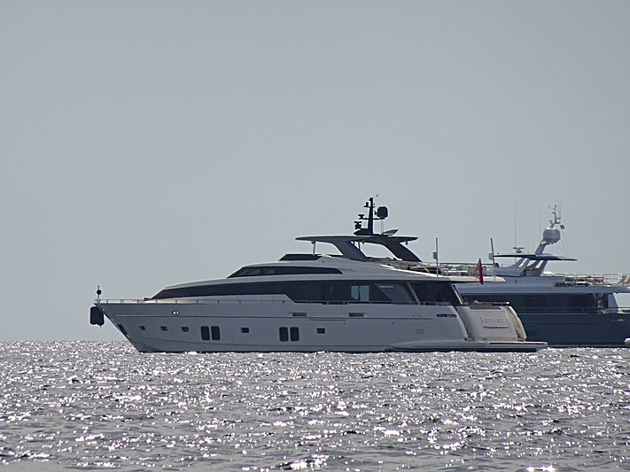 Essence yacht anchored off Cannes