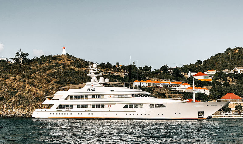 Motor yacht Flag by Feadship in St Barths