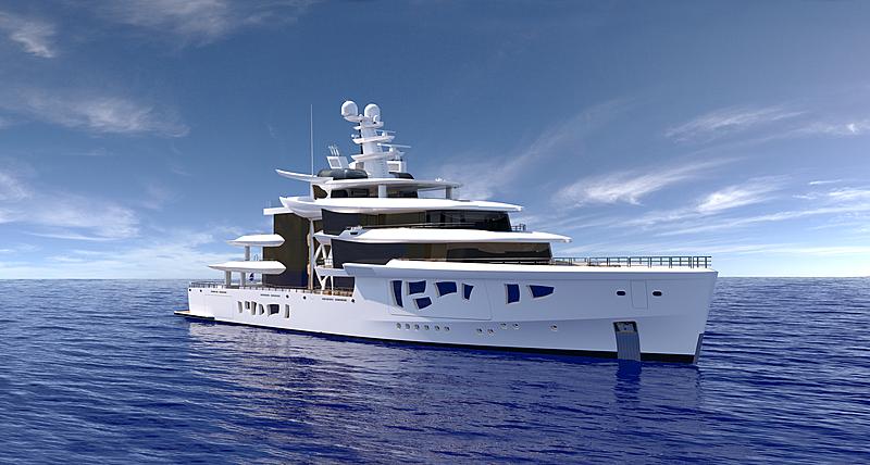Artefact yacht exterior rendering