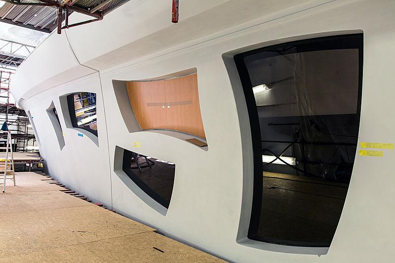 Artefact yacht in build in Rensburg