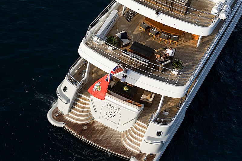 Grace yacht anchored