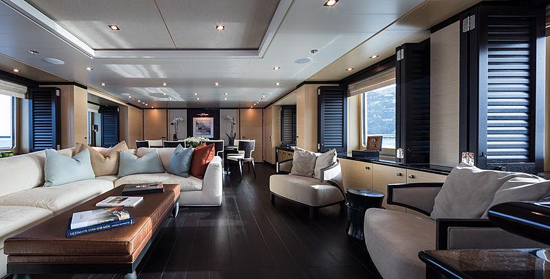 Grace yacht main saloon