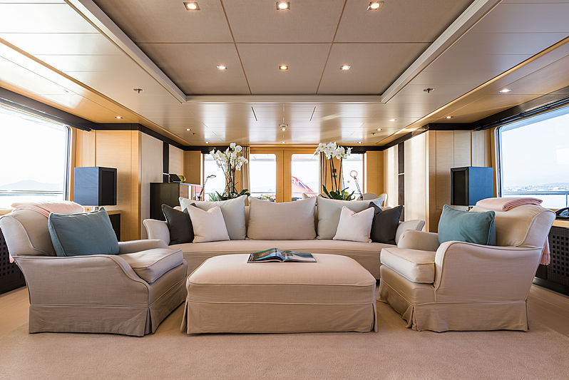 Grace yacht upper deck saloon