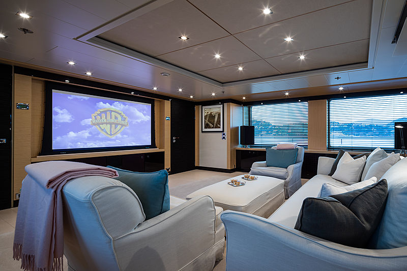 Grace yacht home cinema