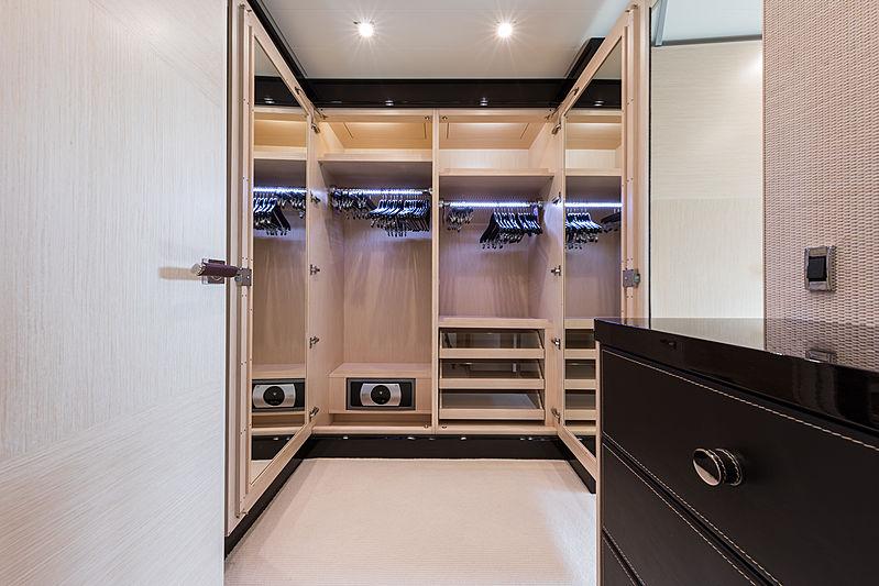 Grace yacht master's cabin closet