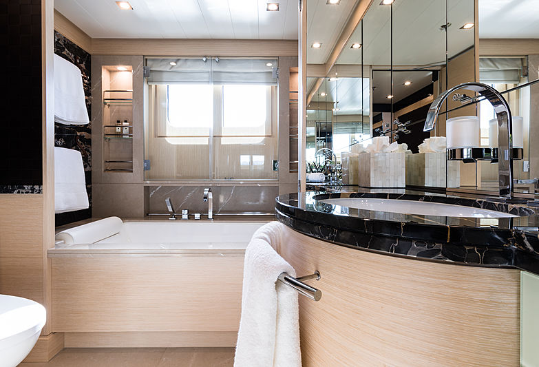Grace yacht master's bathroom