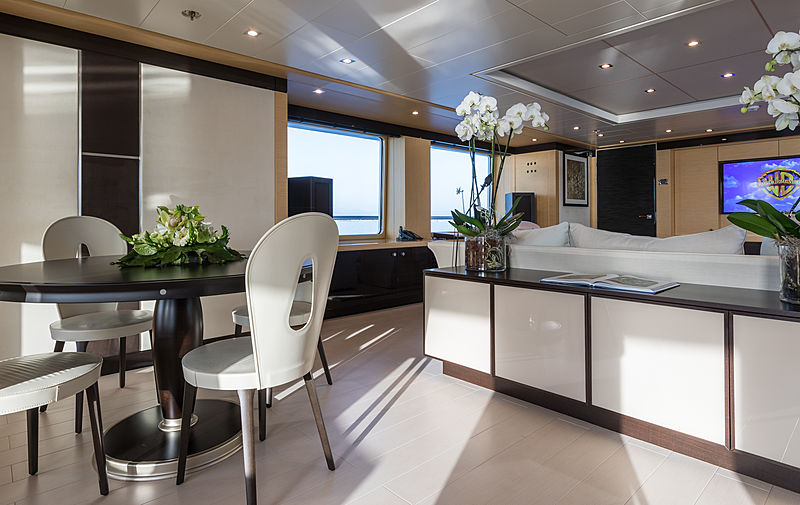Grace yacht upper deck saloon