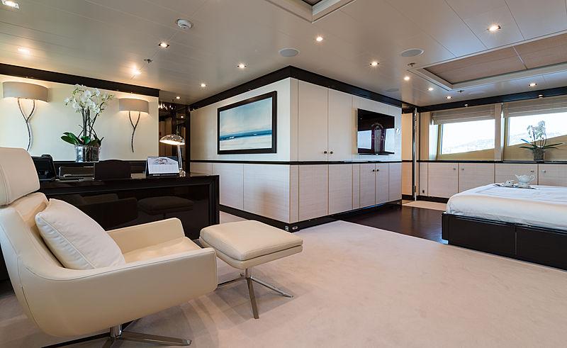 Grace yacht master's cabin