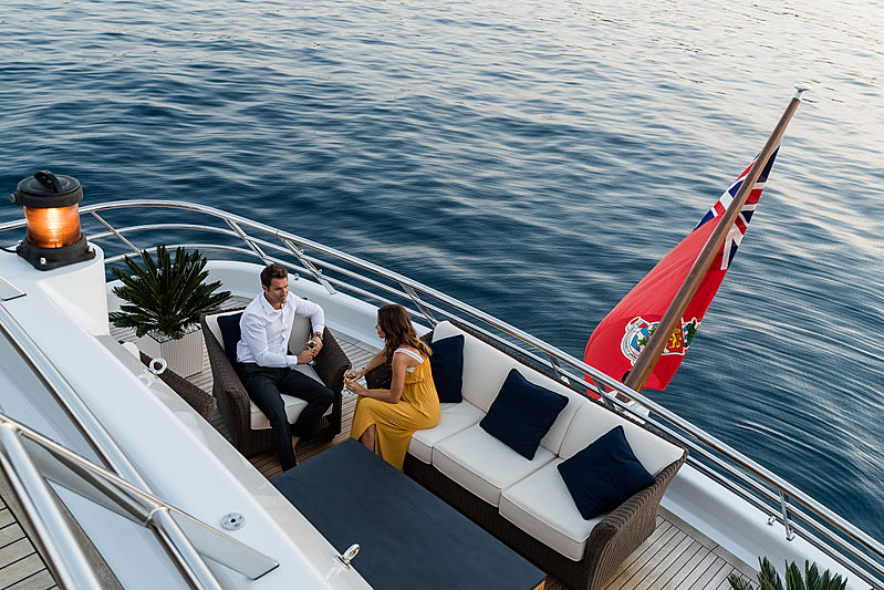 Grace yacht rear deck