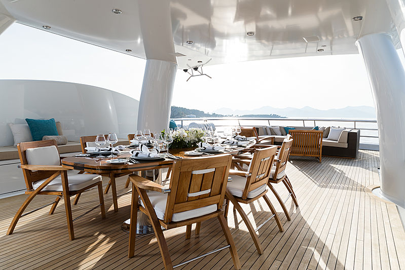 Grace yacht deck