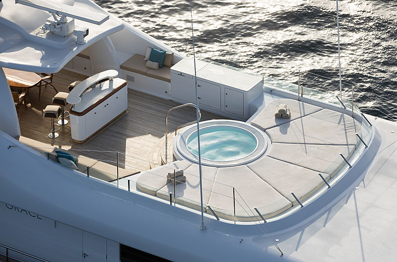 Grace yacht deck and jacuzzi