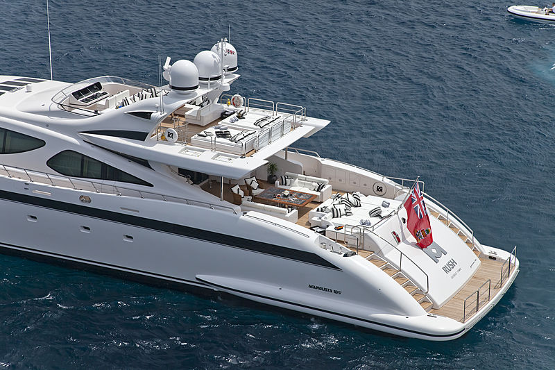 Rush yacht anchored