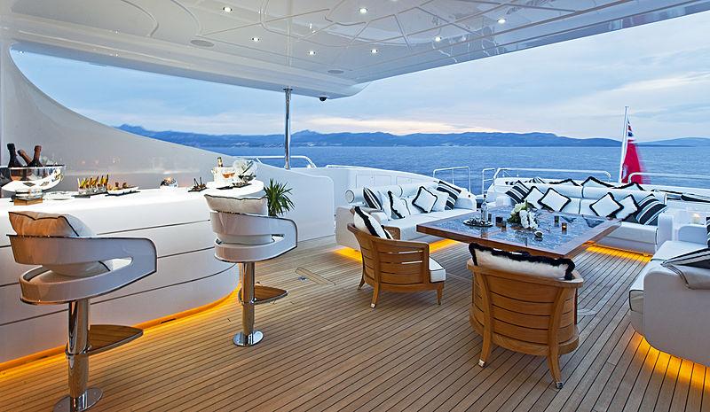 Rush yacht aft deck