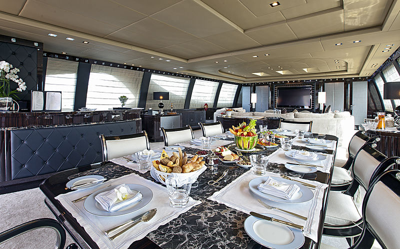 Rush yacht dining room