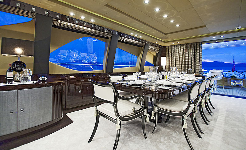 Rush yacht dining room