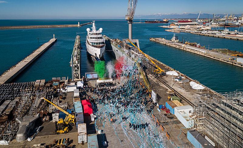 Benetti FB 272 yacht launch in Livorno