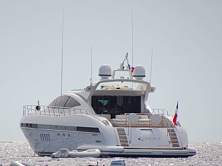 Orion I yacht anchored off Cannes