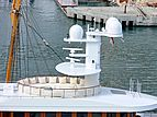 Wedge Too yacht mast and domes