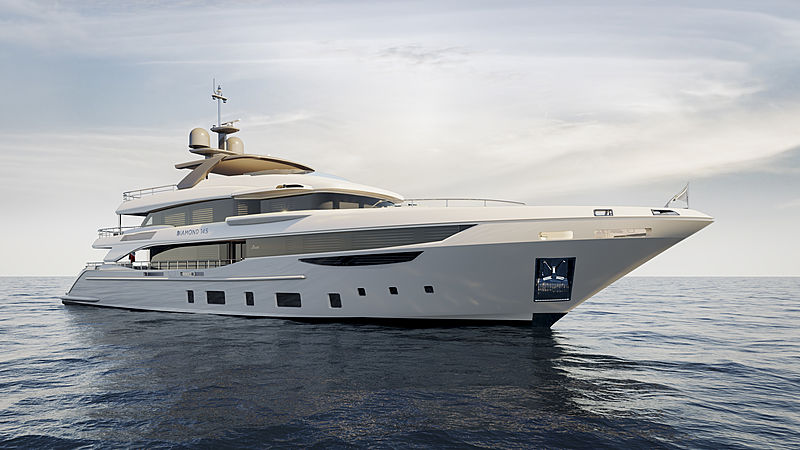 Benetti Diamond 145 exterior design