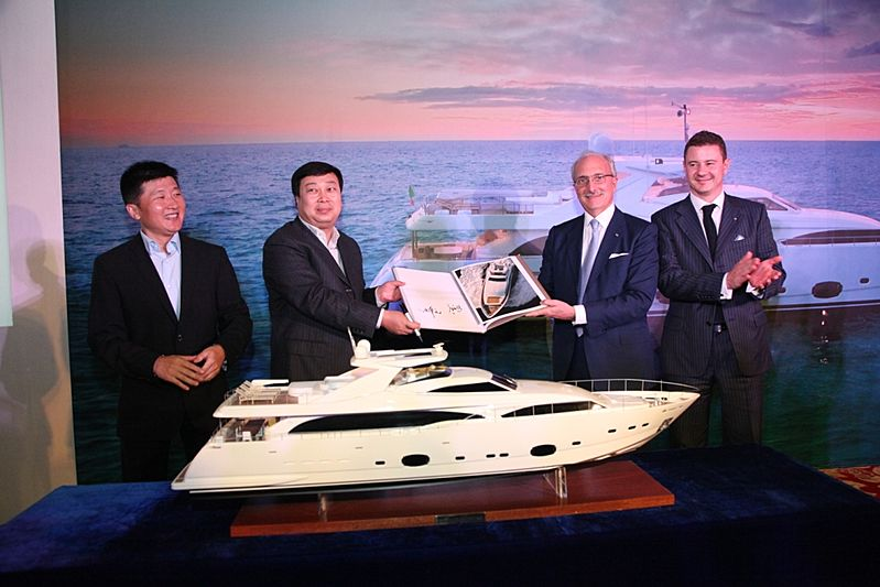 Signing ceremony of South China Sea Welkin yacht