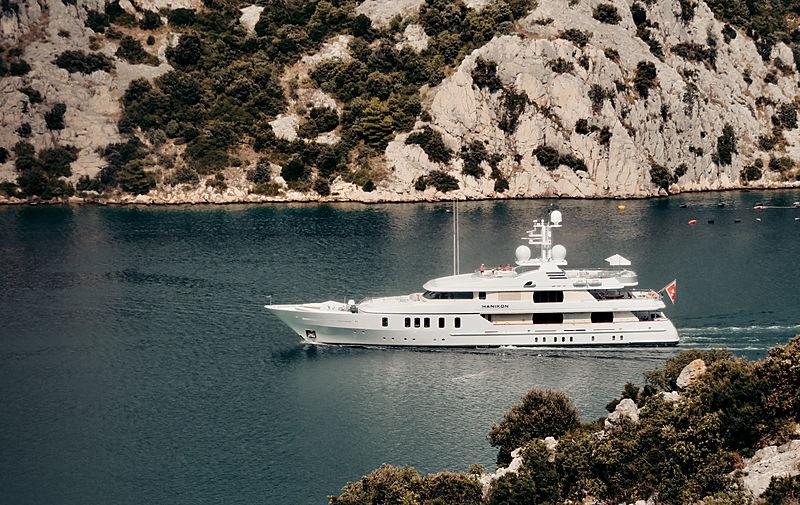 Hanikon yacht cruising in Kanal Luka, Croatia