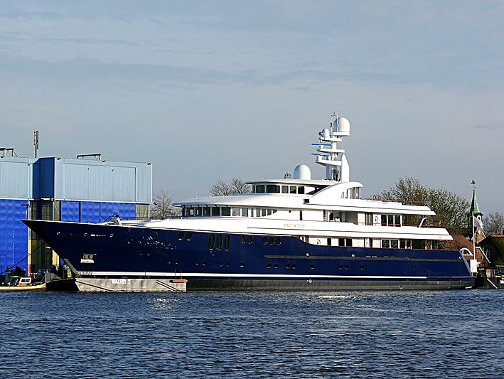 Archimedes yacht launch