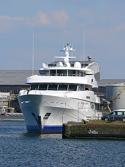 Blue Moon yacht at Coen Harbour